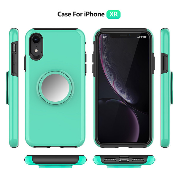 Cell Phone Case For iPhone Magnetic Car Mount With Aigbag Stand Holder Cover For iphone XR