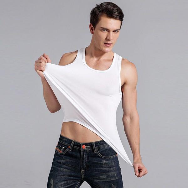 2020 New Arrival Mens Exercise & Fitness Clothing Men's Vest Solid Color Comfortable fitting Vest M-3XL #1 Mens Exercise & Fitness Clothing Hot Sale,Welcome wholesale