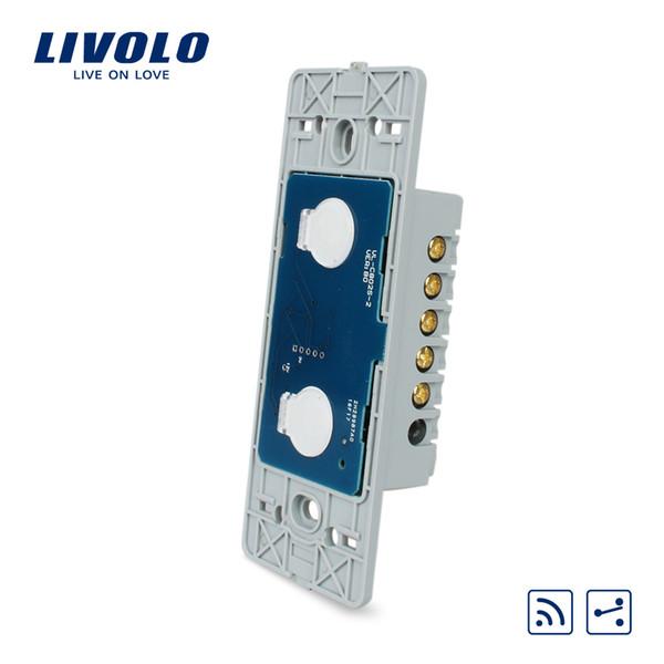 Производитель, Livolo AC 110 ~ 250 В Основание настенного выключателя с сенсорным экраном, 2Gang 2Way Remote Function