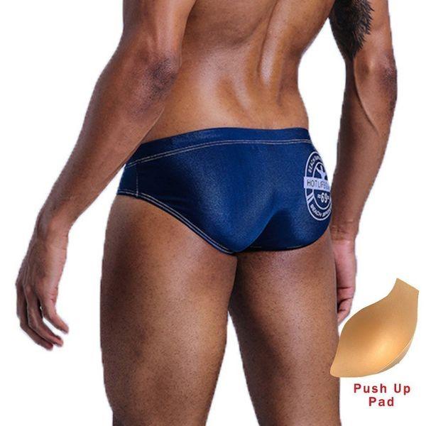 Swimwear Men Sexy Mens Swim Briefs Swimming Trunks Swimsuit Push Up Pad Low Waist Gay Swimwear Swim Beach Shorts Zwembroek Heren Y19052702
