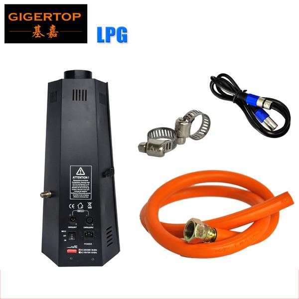 TIPTOP 200W Efecto de escenario Máquina de llama DMX Proyector de chorro de fuego con gas LPG como combustible Fácil Opere DMX 512 Control Venta de fábrica 100V-220V