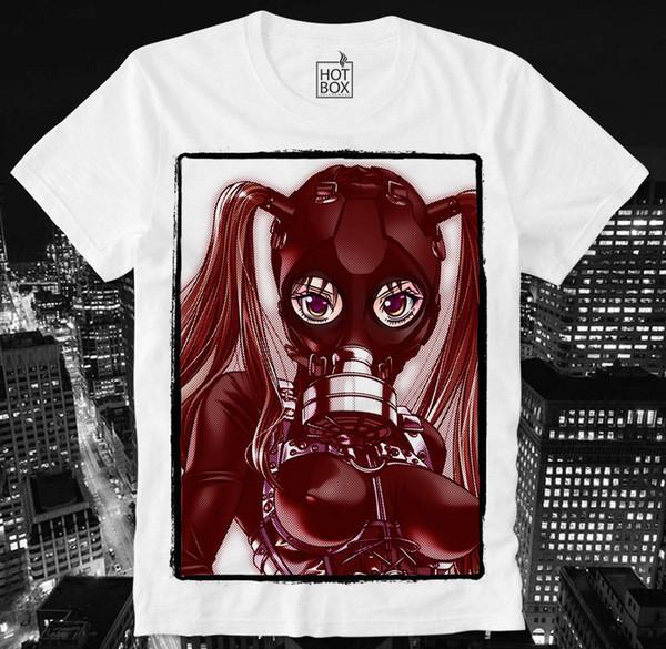 HOTBOX T SHIRT ANIME MANGA HENTAI GAS MASK PORN PORNO SEXY GIRL BDSM SM  JAPAN Men Women Unisex Fashion Tshirt Cool Tee Shirts Cheap Business Tee ...