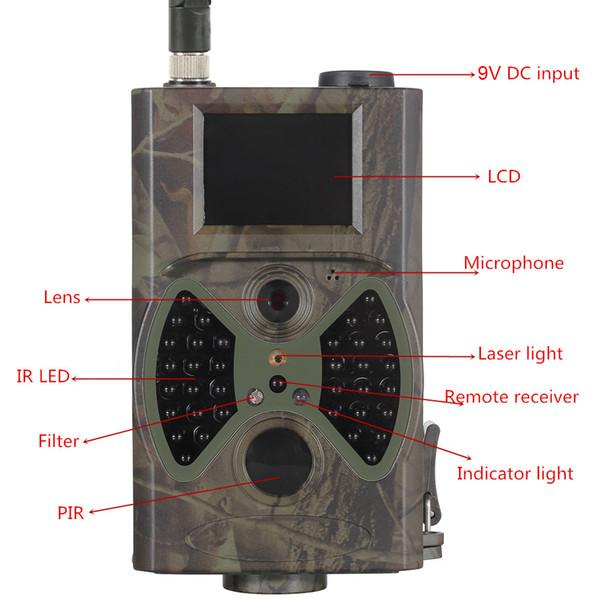 Trail Kamera 16MP 1080P Yaban Hayatı Kamera, WCDMA / CDMA2000, MMS, SMTP, FTP, SMS, ZAMANLAYICI ile Gece Algılama Oyunu Kamera
