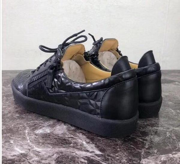 New Luxury DONNA Uomo BRAND SHOES TOP QUALITY NERO Glitter SCARPE LUXURY ZIP Uomo Sneakers SNEAKERS UOMO Low-Shoes Splice Coppia Scarpe