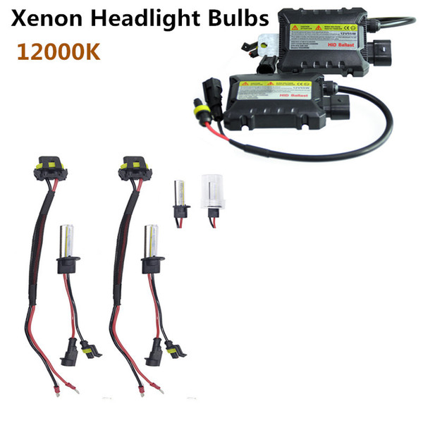55W H1 HID Xenon Headlight Bulbs Conversion KIT+ Ballasts Vehicle Car Auto 10000K Universal 2PCS/Set