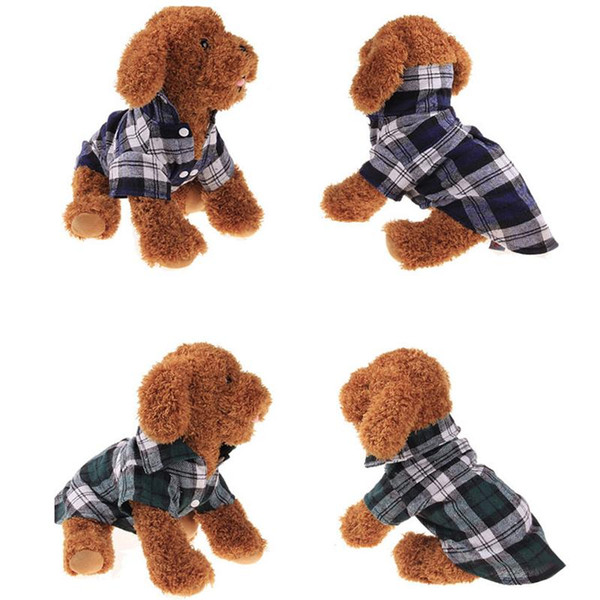 Pet Puppy Summer XS-XL Shirts Plaid Dog Clothes Fashion Classic Shirt Cotton Clothes Small Dog Clothes Cheap Pet Apparel BC BH0986