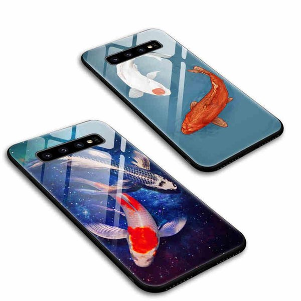 2019 New Fashion Shockproof Phone Case for Samsung S10/S10 Plus/S10e/M10/M20 Protective Back Cover Retro Phone Case 2 Styles Wholesale