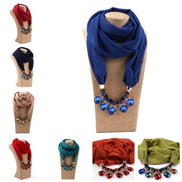 Sciarpa pendente Gioielli decorativi Collana lega Perline Sciarpa pendente Donna Foulard Femme Sciarpe testa LE375