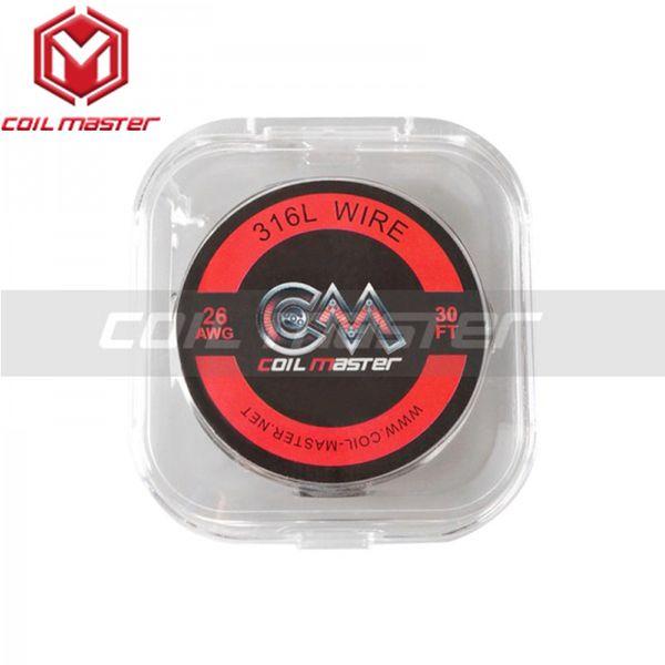 2 unids / lote Original Coil Master 316L Wire 22/24/26/28 / 30GA 30 pies DIY Cable de calentamiento para cigarrillo electrónico RDA RBA RTA