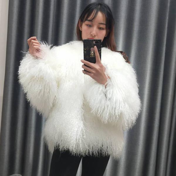 0ee6d77d641 Compre Nuevo Abrigo De Piel De Oveja De Mongolia Real