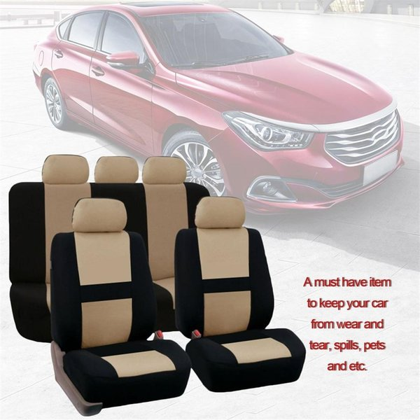 9 Pcs/Set Four Seasons Universal Car Seat Cushions Automobiles Car Seat Covers 5 x Car Headrest Covers 2 x Front seat covers