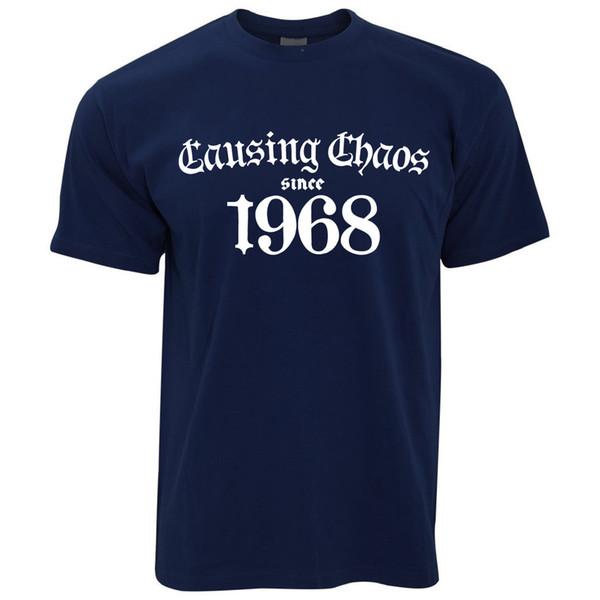 T-shirt pour homme 50e anniversaire causant le chaos depuis 1968 Heureux Cinquante Ans