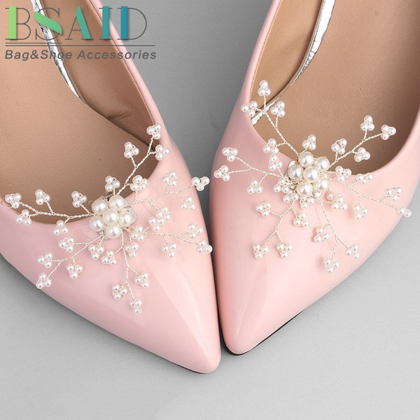 2019 Bsaid Pearl Shoe Clip Decoration Snowflake Charm Wedding Bridal Women Shoes Decorative Shoe Clips Accessories Ornament From Shoesbuddy 45 77