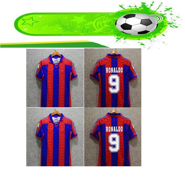 quality design c03d6 66bea 2019 Classics 96 97 Retro Barca Socceer Jersey Ronaldo Home Guardiola Luis  Figo Poster Giovanni Football Shirts 1996 1997 Kit Maillot De Foot From ...