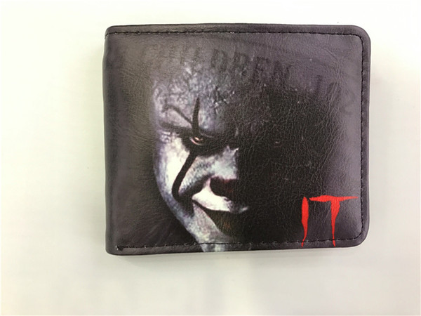 Stephen King's it Movie Wallet For Young Boy Girl Student Leather Short Money Bag Wallet