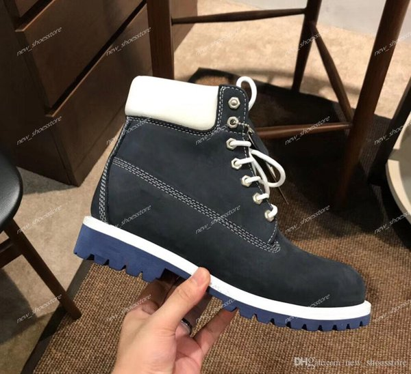 Hommes Femmes Martin Bottes de luxe de cuir chaud sneakers Casual neige Mid Cut Randonnée Walking Formation Bottes Baskets