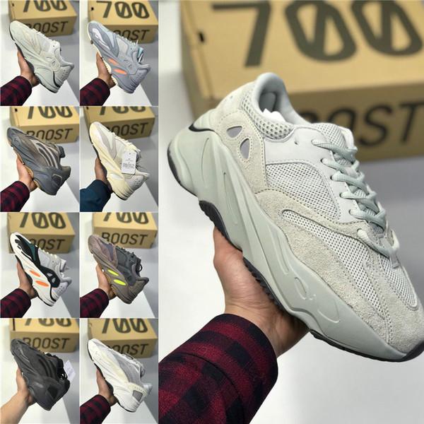 Utility Preto 700 V2 Kanye West Geode estática Homens Running Shoes Vanta Inércia Corredor da onda sólida Sneakers cinza Mulheres Esportes Tamanho 36-46 MM095