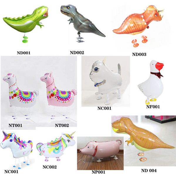 top popular High Quality Dinosaure Balloon Helium Walking Pet Animal Foil Balloons With Large Size For Kids Birthday Party Supplies Gift Balloon Toys 2020