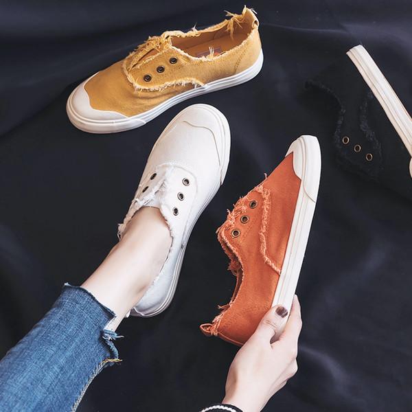Suela plana de lona, zapatos solos, zapatos blancos pequeños.