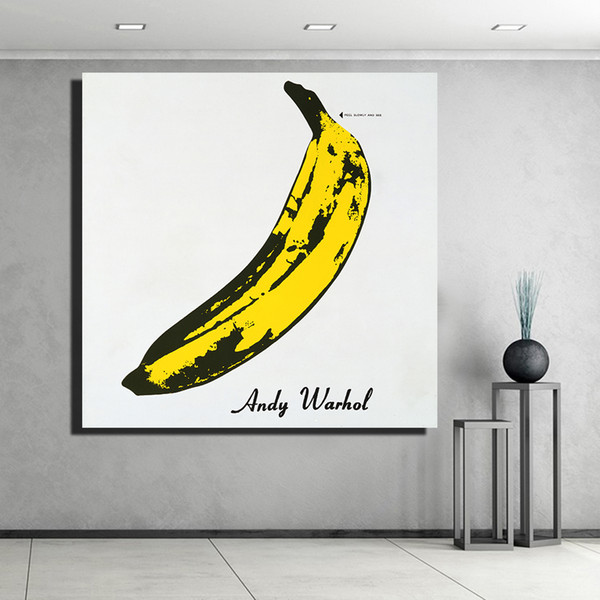 Handpainted & HD Print Abstract Graffiti Art Oil Painting Andy Warhol Banana On Canvas Wall Art Home Deco High Quality a60