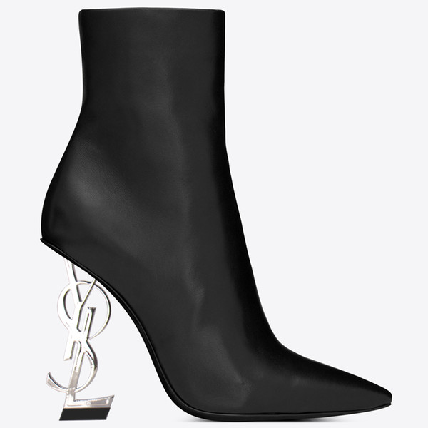 Designeross28 high Quality high heels Letter heel Ankle Boots real leather Women Shoes Martin Boots New Autumn Winter Long Boots Motorcycle
