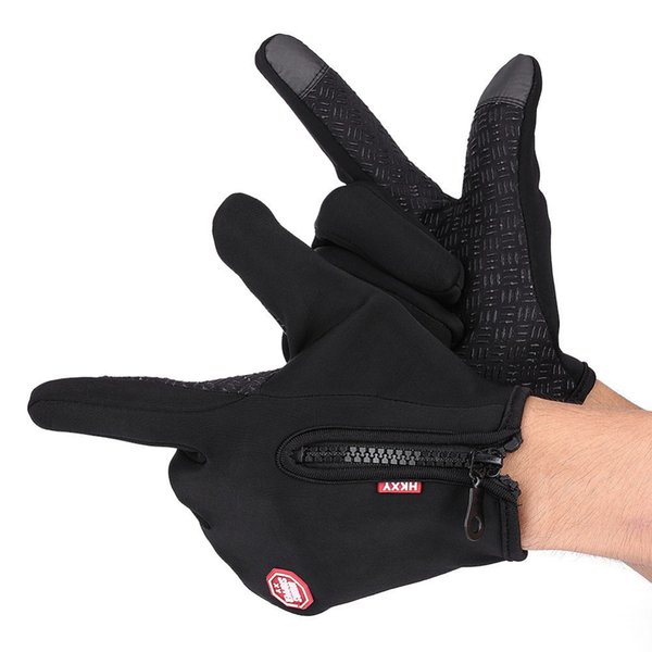 Warm Motorcycle Street Gloves Screen Anti-slip Waterproof Outdoor Riding