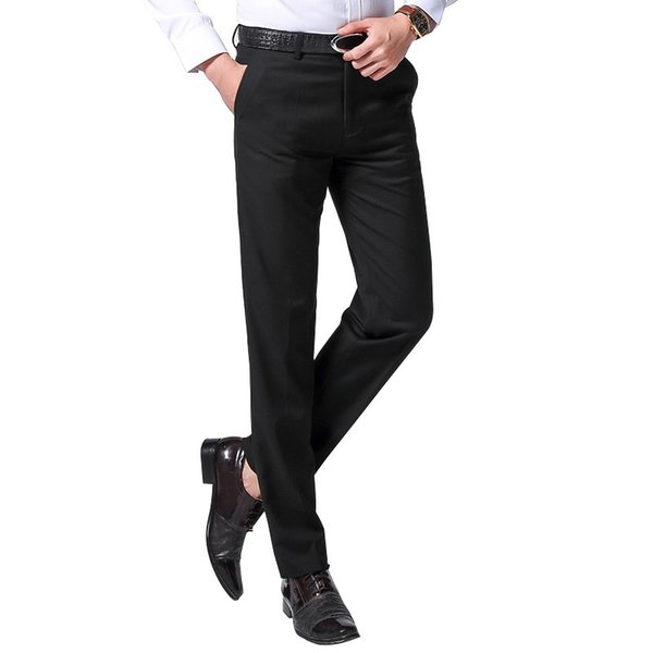 Summer Men's Business Ironing-free Straight Cylinder Korean Small-footed Suit Pants for Working Professional Western-style Trousers WY0018