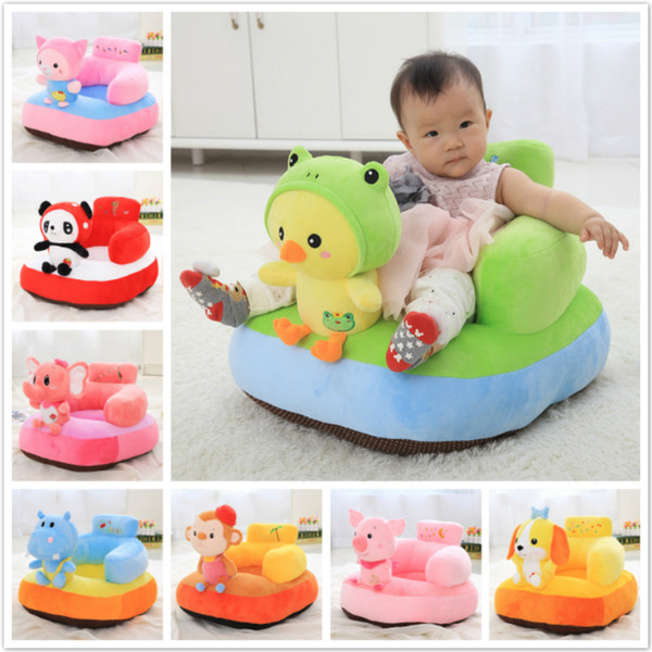 Infant Safety Seat Soft Stuffed Animal Baby Sofa Plush Baby Cushion Feeding Chair Learning To Sit Kids Back Support Plush Toy