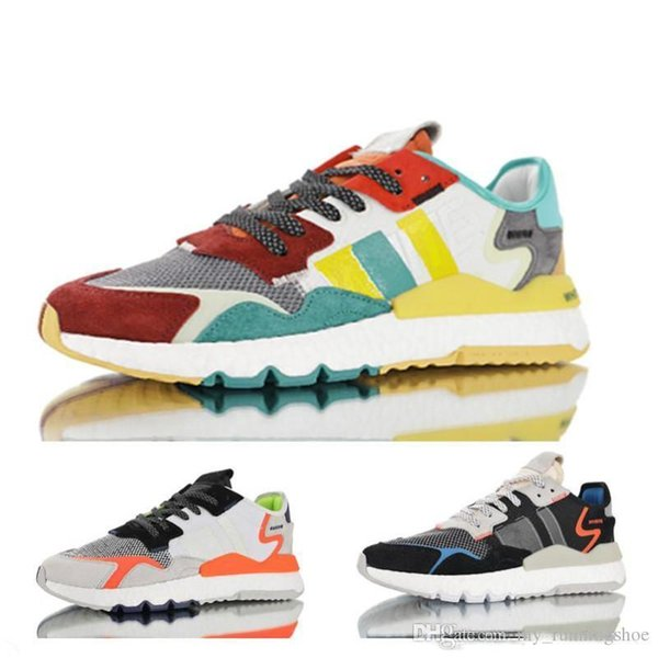 3M New x Nite Jogger at Night 3M Running Shoes Black Light Gray Orange Blue For Top Quality Men Women Sneakers Outdoors Trainers 36-45