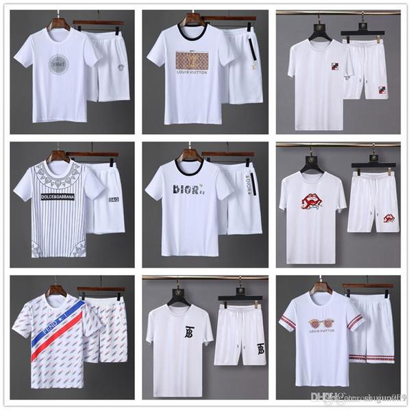 Meilleurs modèles nouveau design Tops Ensembles Hommes Été Loisirs Mode Color Collision Shorts Manches Courtes Sport Ensembles Thin Daily Casual Tops Short