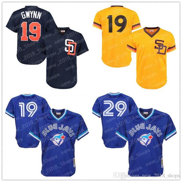 527a9d0dc Retro Mes19 Jose Bautista Toronto baseball Blue Jays 29 Joe Carter 19 Tony  Gwynn 12 Roberto