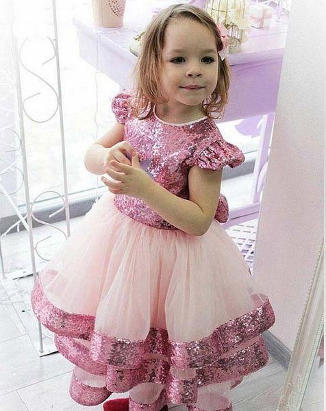 Vestidos de fiesta de cumpleaños lindos de Todder con mangas largas Vestido largo de niña de las flores con lazo grande para ocasiones especiales Ropa formal para niños