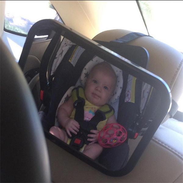 Espelho de segurança ajustável assento largo Vista Traseira Bebé Criança Car
