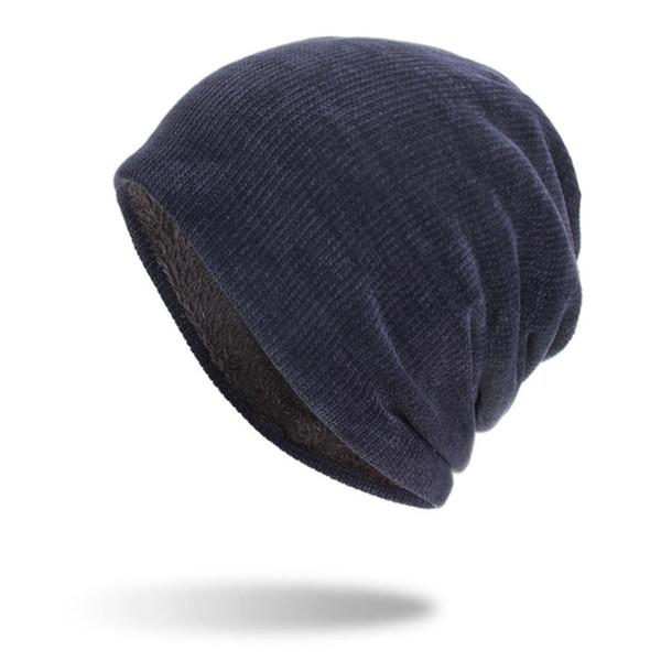 Unisex Cálido Hip Hop Slouch Exterior Sólido Sombrero de invierno Gorra de esquí de pana
