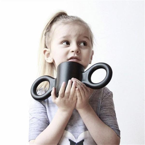 Ins Çocuklar Için Büyük Kulak Fincan Yükseltilmiş Versiyonu Çocuklar Güzel Su Bardağı Kız Sağlıklı Kupa Süt Fincan Erkek Doğum Günü Hediyeleri