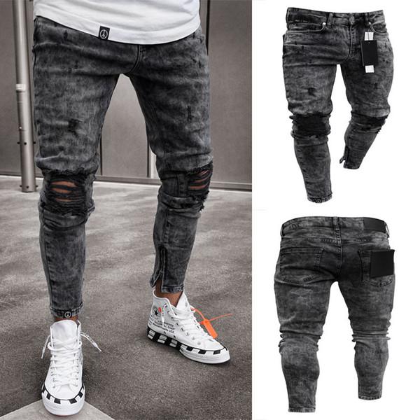 Hommes desiger Jeans trou Fashion Style Soild couleur Fashion Style Été Sytle Homme Vêtements Automne Vêtements décontractés