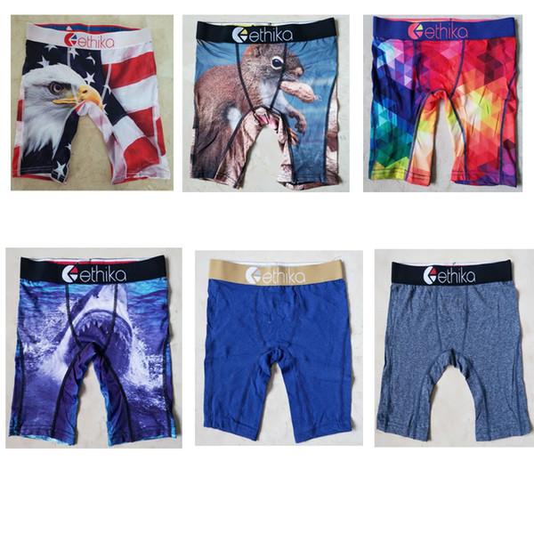 top popular Hot sell !Random styles Ethika Kid's boxer underwear sports hip hop rock excise underwear skateboard street fashion quick dry and Cotton 2019