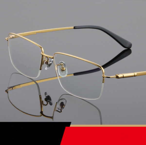 Мужские очки Frames Titanium Половина Rimless Оправы для очков LB-8961