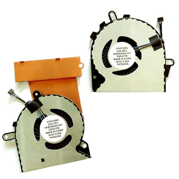CPU del ordenador portátil del refrigerador del ventilador para HP Pro PROFECÍA 3plus GPU para el 15-ce0xox 15 CE0XX 15 CE198WM 15 CE199NR NS75B00-16M02 15 CE051NR 15 CE198WM
