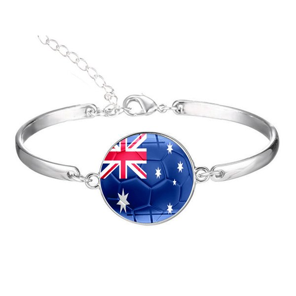 ZTUNG HB37 for MO Round Glass Nation Flag Bracelets Australia Colombia Korea Peru Japan Saudi Arabia Uruguay women bracelet