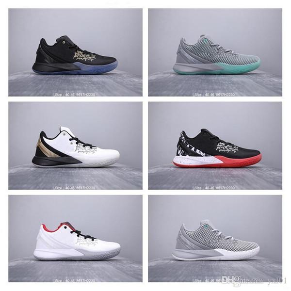 2019 En Kaliteli Kyrie Flytrap 2 Playoff Düşük Aşınmaya dayanıklı Basketbol Ayakkabıları Erkek Spor Ayakkabı Yalınayak Terminator 5 Sneakers Boyutu 40-46