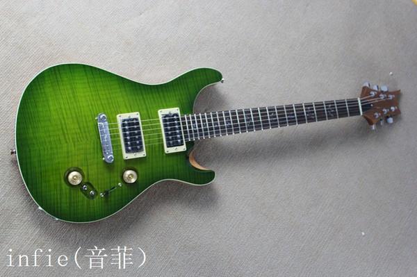 2019 Hot Custom Guitar Shop Rosewood Green 6 cuerdas guitarra eléctrica envío gratis venta al por mayor