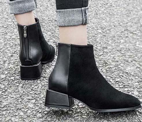 2019 Las últimas botas planas de cuero para mujer, botín clásico Jumble Tobillo para mujer Zapatos casuales en bombas de tacón de piel de ante con tamaño de caja 35-41 z7