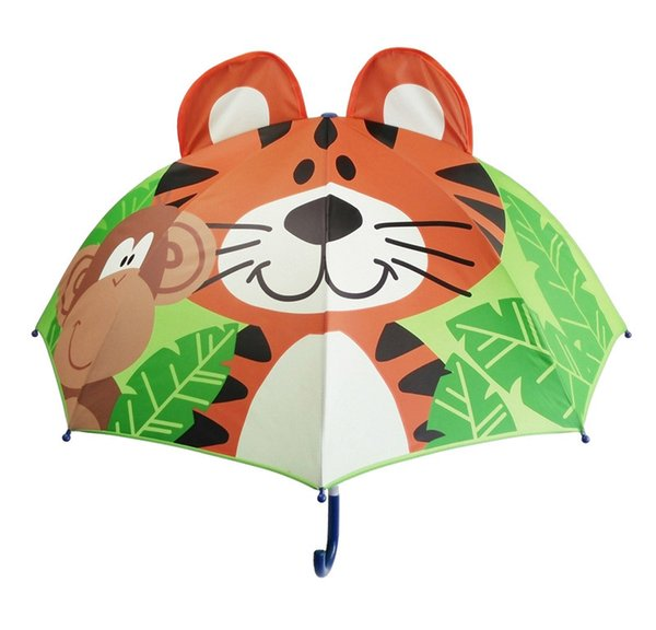 13 Styles Lovely Cartoon Design Umbrella For Kids High Quality 3D Optional Function Umbrella Light For Rain Sun 47CM*8K