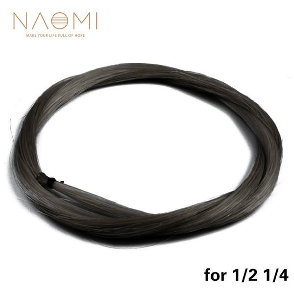 NAOMI Black Bow Hair 1/2 1/4 Violon Arc Mongolie Crin De Cheval Haute Qualité Violon Arc Pièces Accessoires Neuf