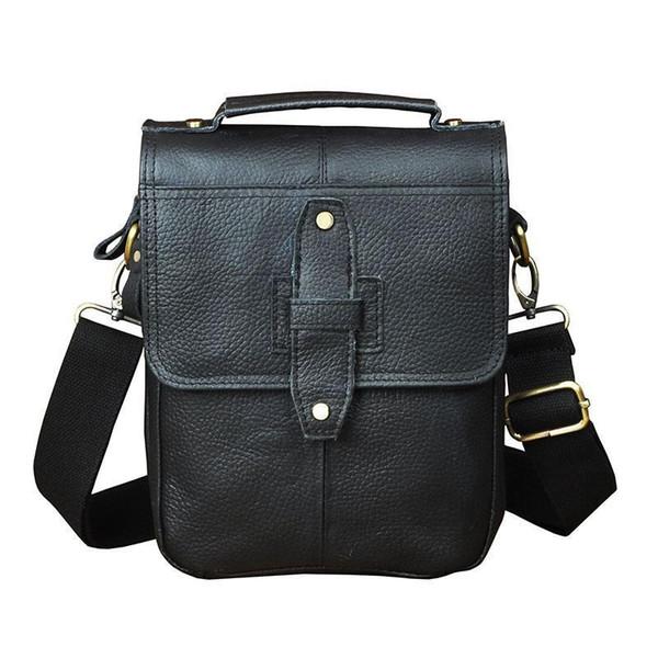 """Original Leather Male Fashion Casual Tote Messenger Bag Designer Satchel Crossbody One Shoulder Bag 8"""" Tablet Pouch For Men 152b"""