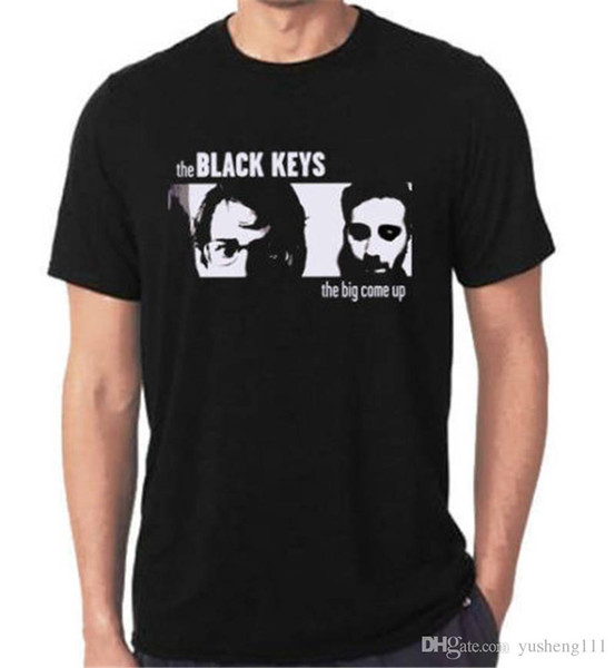 Top Tees Custom Any Logo Size Crew Neck Men Limited Th Black Keys Print Short Tee