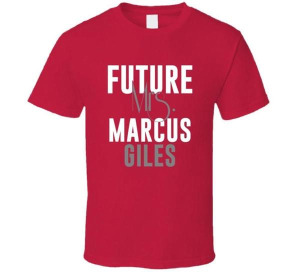 Gelecek Bayan Marcus Giles 2006 Atlanta Beyzbol T Gömlek