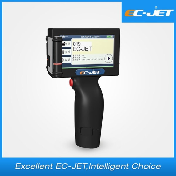 EC-JET Touch Screen Handheld Printer printing Glass Metal Mini QR Date Coder Machine Handheld Printer For Plastic Metal Wood