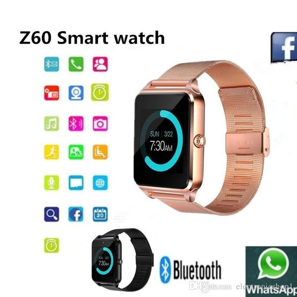 Smart BluetoothZ60 Guarda con display a LED / Dial / SMS Ricordando / Music Player Pedoeter Wearable Devices per Apple Iphone IOS Android Mob